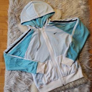 👑 NIKE: reversible zip drawstring mesh hoodie!